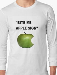 Apple Sign Long Sleeve T-Shirt