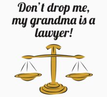 Don't Drop Me My Grandma Is A Lawyer Kids Clothes
