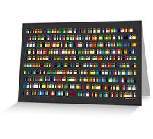 Color By Number - Pi (medium density) Greeting Card