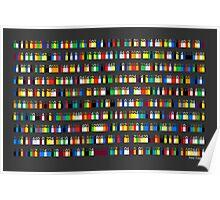 Color By Number - Pi (medium density) Poster