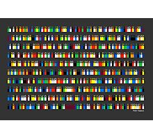 Color By Number - Pi (medium density) Photographic Print