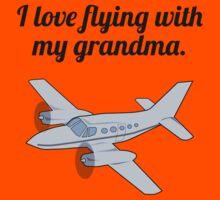 I Love Flying With My Grandma Kids Tee