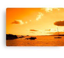 wild atlantic way sunset view ireland Canvas Print