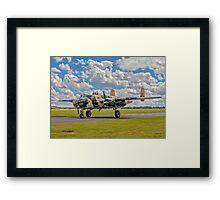 """B-25J Mitchell 45-8811/SB F-AZZU """"Russell's Raiders"""" Framed Print"""