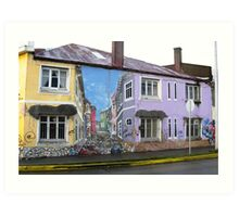Punta Arenas House Illusion Art Print