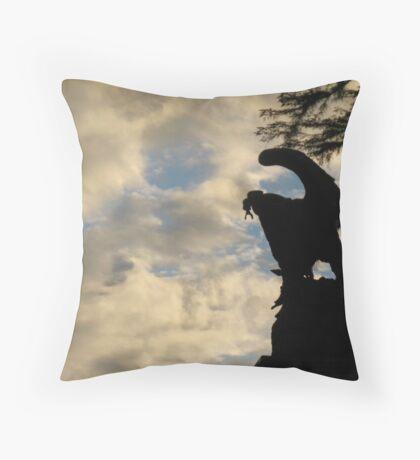 Eagle Prey Statue Throw Pillow