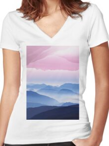"""Poster """"The Reflection of Chaos is Creativity"""" Women's Fitted V-Neck T-Shirt"""