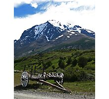 Wagons at Torres del Paine Photographic Print