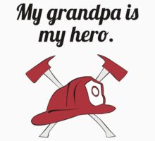 My Grandpa Is My Hero Kids Tee