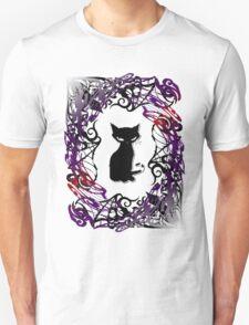 Sly Gothic Cat Unisex T-Shirt