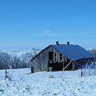 Winter Blue Countryside by lorilee