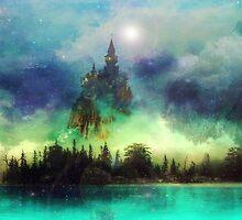 Misty Mountain Night by Vanessa Barklay