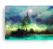 Misty Mountain Night Canvas Print