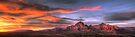 Sedona Sunset Panorama by Eddie Yerkish
