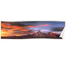 Sedona Sunset Panorama Poster