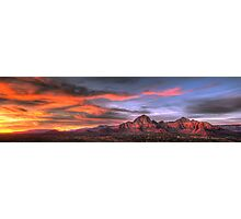 Sedona Sunset Panorama Photographic Print