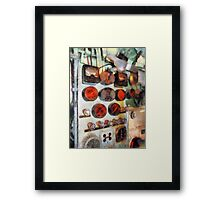 Steampunk Gauges - Engine Room Framed Print