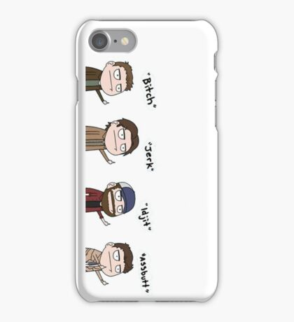 Supernatural - Cas, Dean, Bobby, Sam iPhone Case/Skin