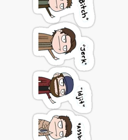 Supernatural - Cas, Dean, Bobby, Sam Sticker