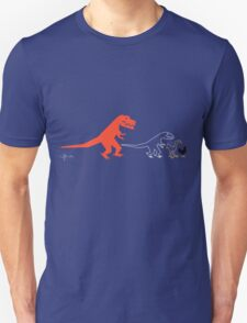 Descent of Chicken (Blue) Unisex T-Shirt