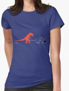 Descent of Chicken (Blue) Womens Fitted T-Shirt