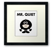 Black Bolt - Mr Quiet Framed Print