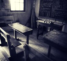 slab hut school house by ozzzywoman