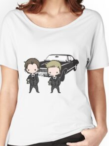 Supernatural Cartoon Dean & Sam Women's Relaxed Fit T-Shirt