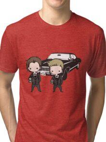 Supernatural Cartoon Dean & Sam Tri-blend T-Shirt
