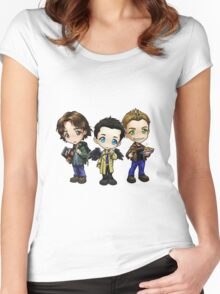 Supernatural - Dean, Sam and Castiel Women's Fitted Scoop T-Shirt