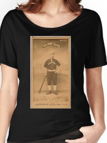 Benjamin K Edwards Collection Thomas Burns Chicago White Stockings baseball card portrait Women's Relaxed Fit T-Shirt