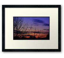 2/28/12s Sunset behind Trees  Framed Print