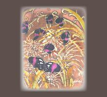 """""""Butterflies Batik - RUST""""© Womens Fitted T-Shirt"""