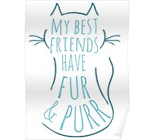 my best friend have fur and purr #4 Poster
