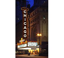Chicago Theatre Evening, Chicago, IL Photographic Print