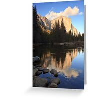 El Capitan at Sunset Greeting Card
