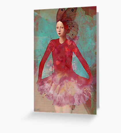 Dreaming in red Greeting Card