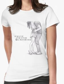 One Direction Lyrics/Drawing Womens Fitted T-Shirt