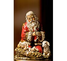 Kneeling Santa Photographic Print