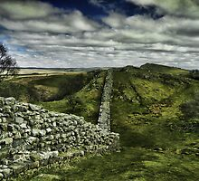 Hadrian's Wall at Walltown Crags by bryanrqueen