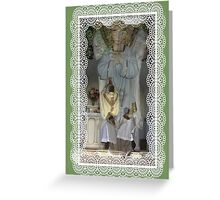 The Catholic Mass with Angel Greeting Card