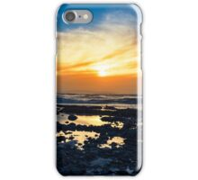 yellow reflections at rocky beal beach iPhone Case/Skin