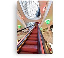 The steep escalator Canvas Print