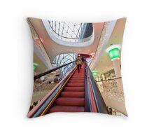 The steep escalator Throw Pillow