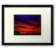 Vivid Sunset Framed Print