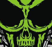 Alien Skull with crossed blasters Sticker