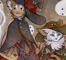 The Gathering - Kitten Witch Ghost Halloween Sticker