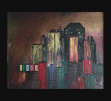 """NYC Skyline""© One Piece - Long Sleeve"