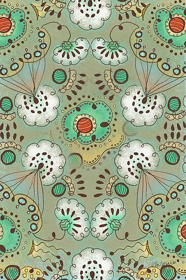 Flower in the Sky Pattern Greeting Card by Janet Antepara