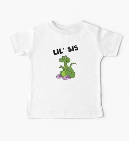Lil' Sis Dinosaur Baby Tee